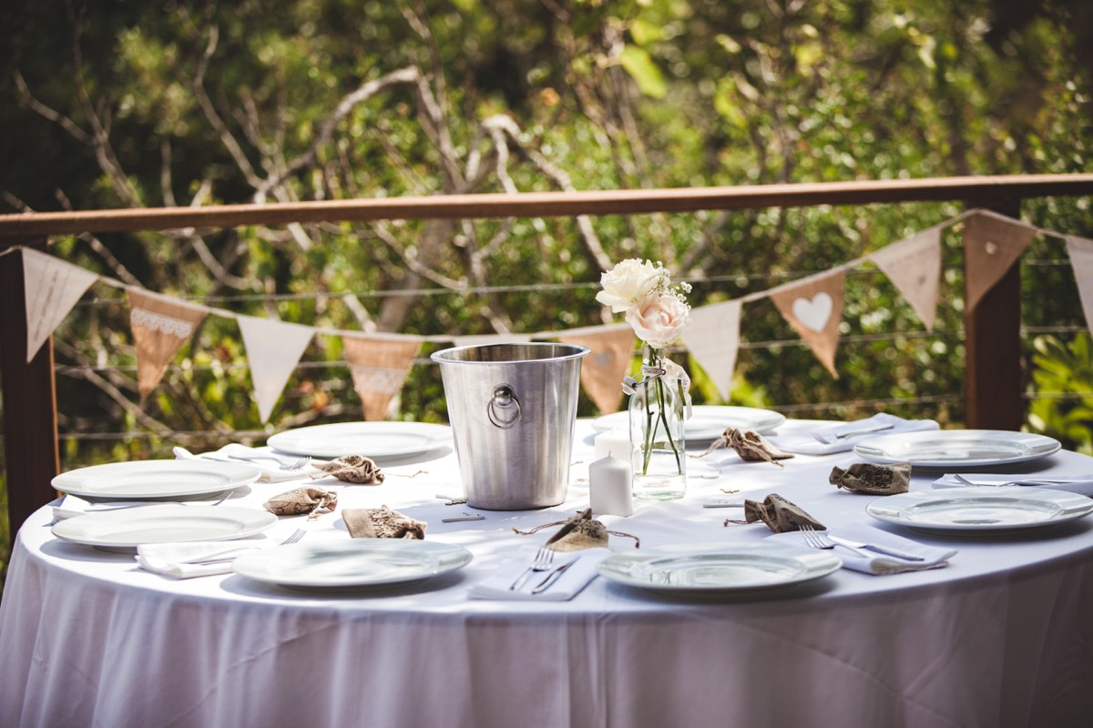 country wedding table inspo