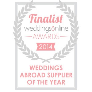 Weddings Abroad Supplier of Year