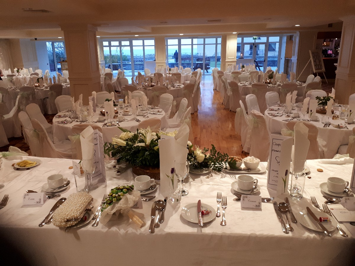 Over Looking Stunning Sea Views from Your top Table