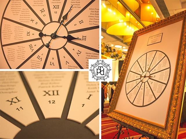 Working Clock Wedding Table Plan Theme