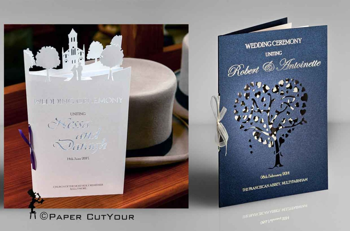Paper CutYour Laser cut Wedding Ceremony Booklets