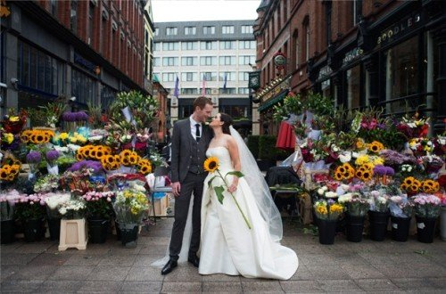 grafton, street, dublin, wedding, photography, flowers, fun,natural