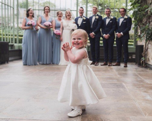 The cutest member of the bridal party!