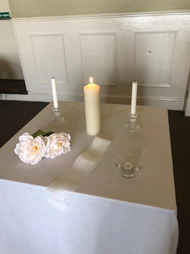 Small wedding set up for a couple who wanted a subtle intimate ceremony