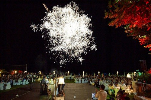 Fireworks at a wedding party in Ammades!