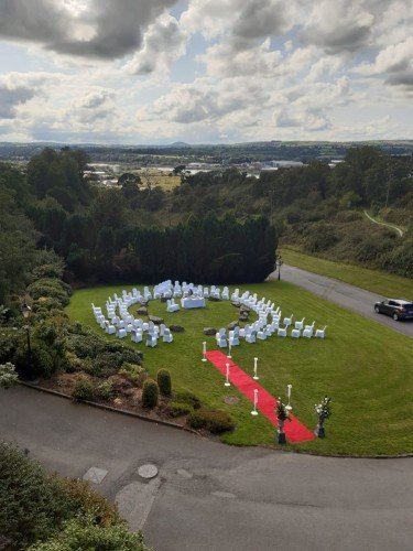 Lovely drone image for ceremony