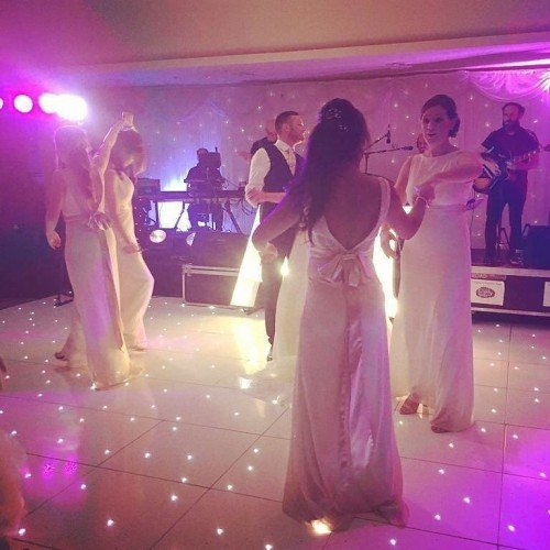 Beautiful bridesmaids, alisha, sarah, louise getting the party started on the dance floor