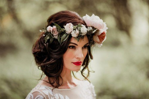 boho bridal flowercrown