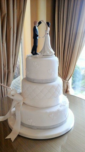 3 Tier Wedding Cake at the beautiful Cromleach Lodge