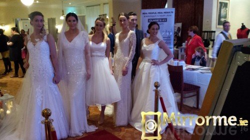 Mirrorme.ie with Catwalk Models at Dromoland Inn Wedding Showcase #3