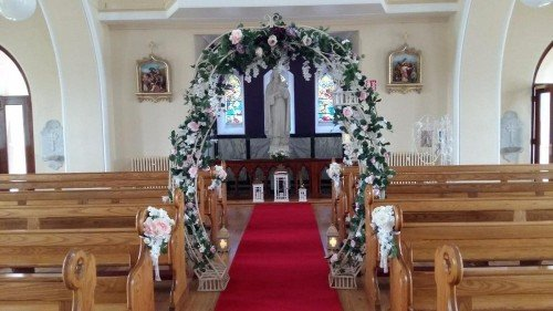 flower arch wedding