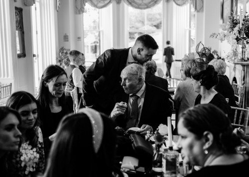 Always time for tea at a wedding