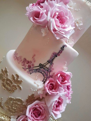 Painted Parisienne Ivory Blush and Gold