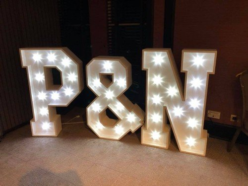4ft LED initials
