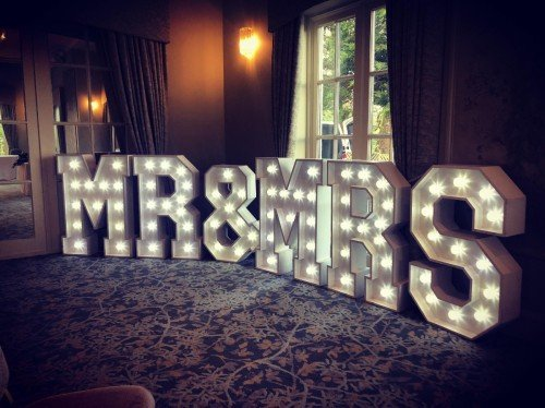 4ft LED MR & MRS sign