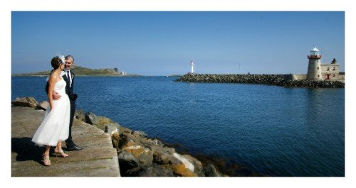 Howth harbour is an amazing backdrop for your wedding photos