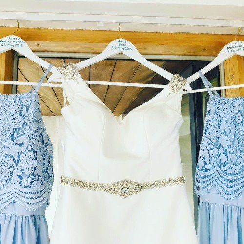 Bridal Hangers for the wedding morning photos in the Talbots suites Wexford