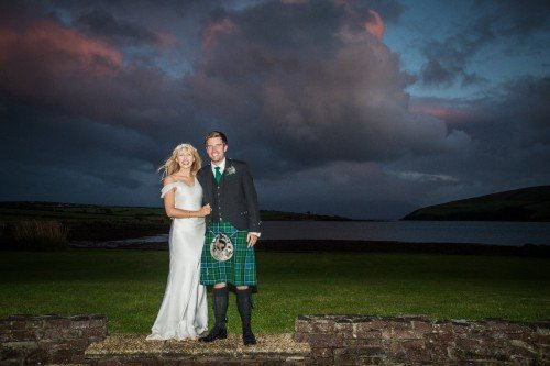 Scottish/Irish Wedding, Dingle Weddings, Bride and Groom, Night shots. Dingle Skellig Hotel, Tara Donoghue Photography