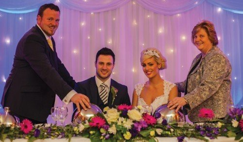 Bernie and Niall kelly with the happy couple
