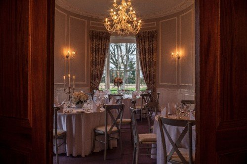 Manor Rooms Set-up for a more Intimate Wedding at Leixlip Manor House