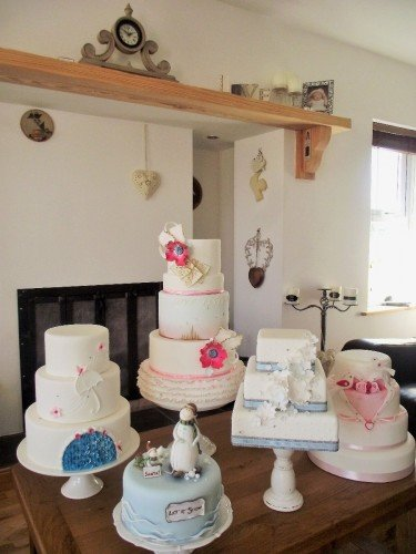 A room with a view of some Wedding Caks