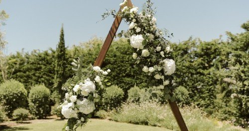 A structure -Boho algarve wedding. Design by Weddings by Rebecca