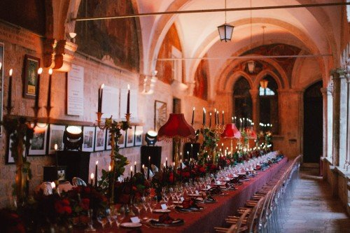 Gala dinner decor , Dubrovnik Wedding