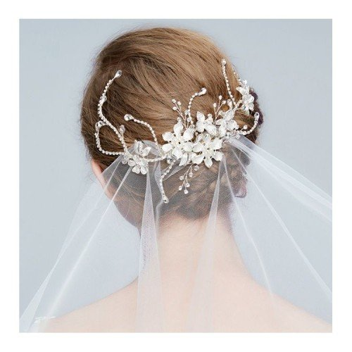ALYSSA Bouquet Crystal Leaf Headpiece