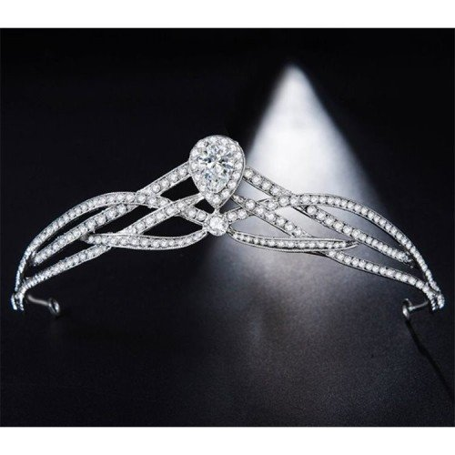 ANNE Wedding Tiara - Diadem with Crystals