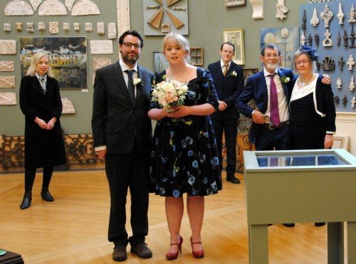 Aoife and Kevin's social distant ceremony in the City Assembly House
