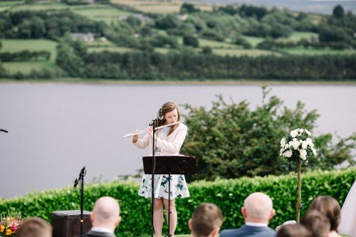Outdoor Wedding Ceremony musician - The Avon Lakeshore Wedding Venue