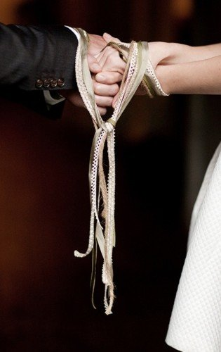 Hand fasting Enhancement , any ribbon/cord etc can be used. We can personalise ribbons, this Enhancement can involve family & guests also