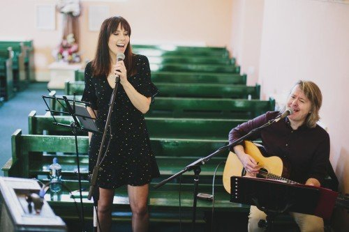 Warming up in Mell Church, Drogheda Co, Louth for the lovely couple Nicola Townley and Shane Wall :)