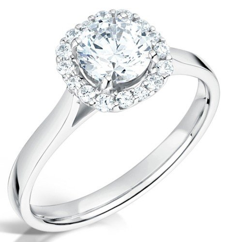 Beautiful diamond engagement ring set in a halo setting