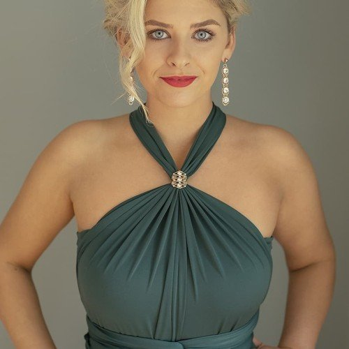 Bottle Green Multiway Dress available to order in all sizes