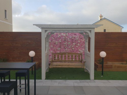 Bridal Swing and Flower Wall
