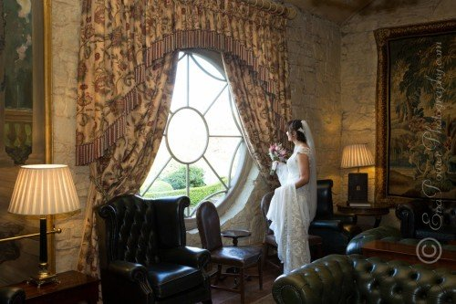 Bride by Round Window, Cliff at Lyons