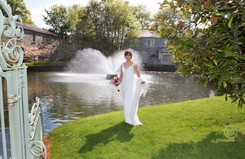 Bride, Lily Pond, Cliff at Lyons