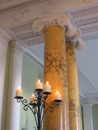 Candle dressing in our stunning hallway