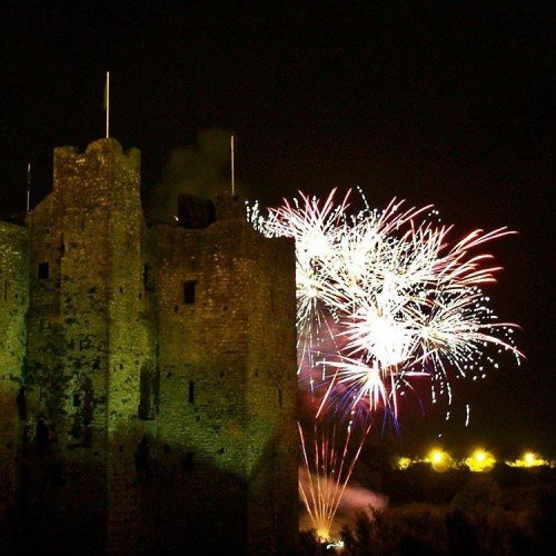 Castle Wedding Venue, Weddings in Meath, Trim Castle Hotel, Fireworks at Trim Castle