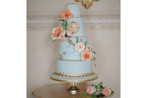 Ruched Renaissance Wedding Cakes - Cherub Couture Cakes