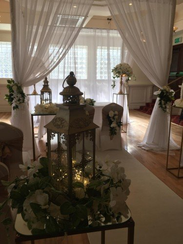Ceremony Decor at the Royal Hotel Bray