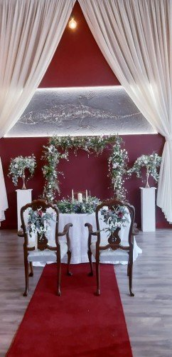 Ceremony decor at Wells House by All About Weddings