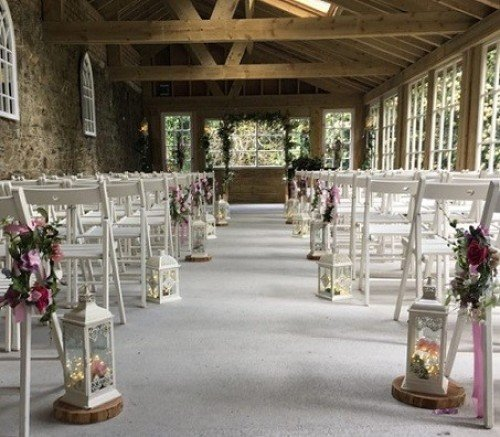 Ceremony Decor & Venue Styling at Trudder Lodge Wicklow