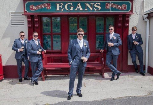 Charming Dermot & his handsome groomsmen