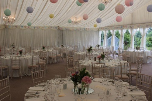Chiavari Chairs With Coloured Pom Poms