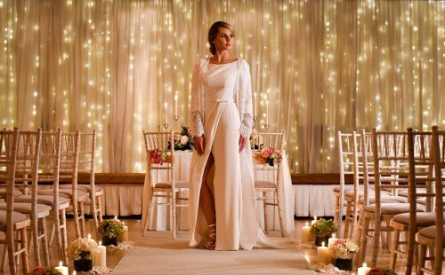 Civil Ceremony inside by candlelight - Clanard Cour Hotel