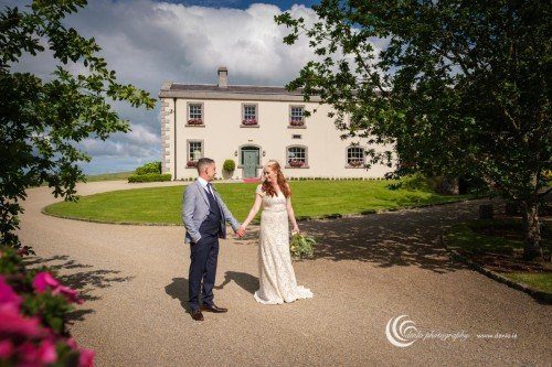 Clonabreany House bride and groom