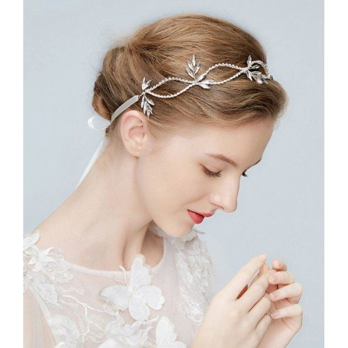 CYRENE 1920' Classic Bridal Headband with Crystals