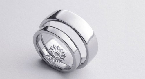 simple wedding bands graphic icon internal detail